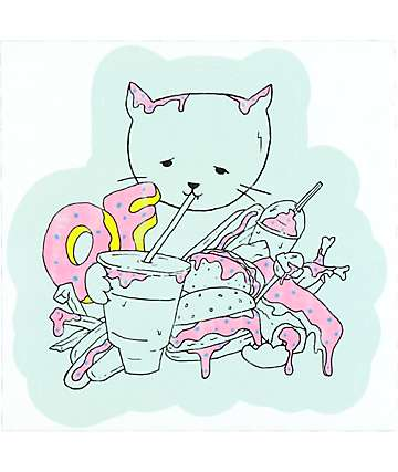Odd Future Cat Pile pegatina