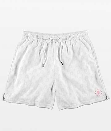Odd Future Checkered Logo shorts blancos