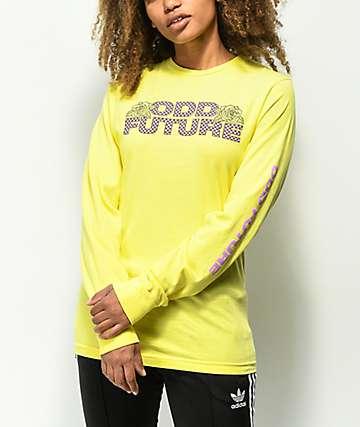 Odd Future Checkered camiseta amarilla de manga larga