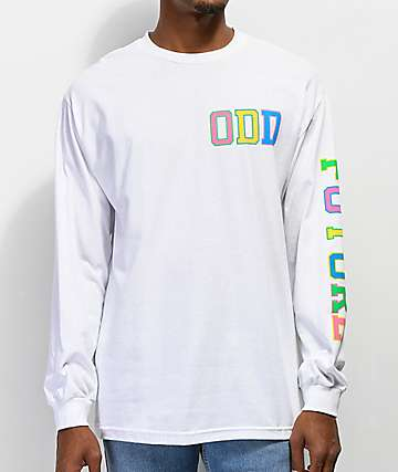 Odd Future Collegiate Rainbow White Long Sleeve T-Shirt