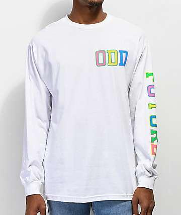 1f957d011e4 Odd Future Collegiate Rainbow White Long Sleeve T-Shirt