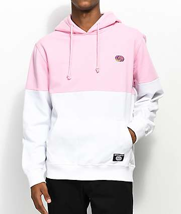 Odd Future Colorblock Pink & White Hoodie