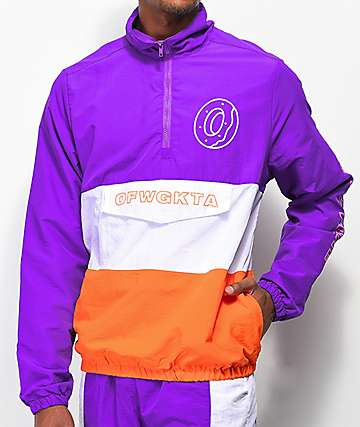 Odd Future Colorblock Purple & Orange Anorak Jacket