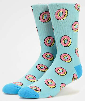 0d9c3fee7e26 Odd Future Donut Allover Light Blue Crew Socks