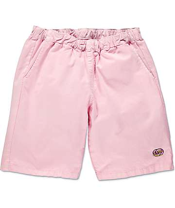 Odd Future Donut Emblem Pink Pigment Dyed Shorts