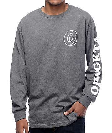 Odd Future Donut OFWGKTA Grey Long Sleeve T-Shirt