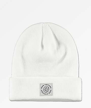 Odd Future Donut Patch White Fold Beanie