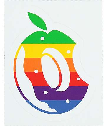 Odd Future Donut Rainbow Logo pegatina