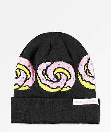 Odd Future Donut Rings gorro negro, rosa y amarillo