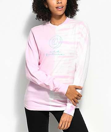 Odd Future Donut Split Pink Tie Dye Long Sleeve T-Shirt