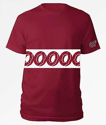 Odd Future Donut Stripe Red T-Shirt