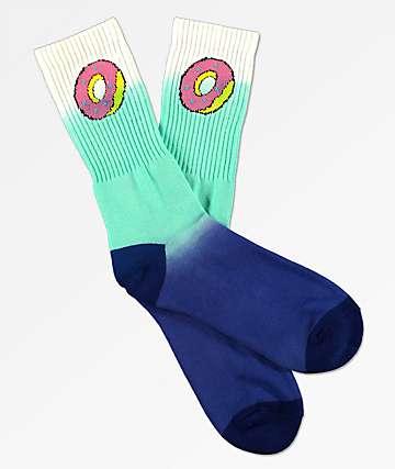 Odd Future Donut calcetines en blanco y azul