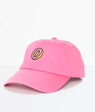 Odd Future Embroidered Donut Pink Polo Strapback Hat
