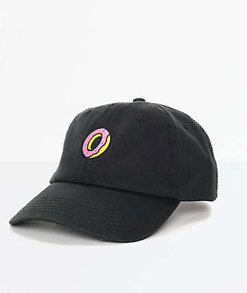 Odd Future Embroidered Donut gorra negra strapback