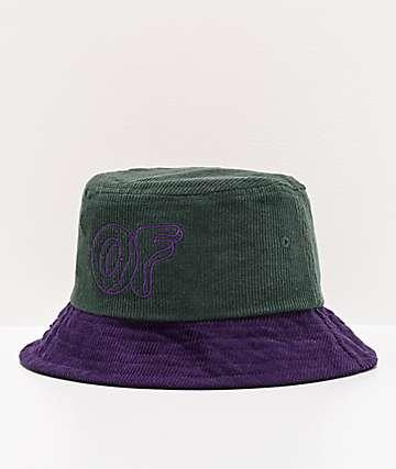 Odd Future Green & Purple Corduroy Bucket Hat