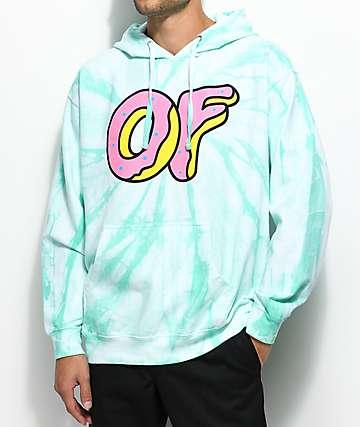 Odd Future Logo Aqua Tie Dye Hoodie