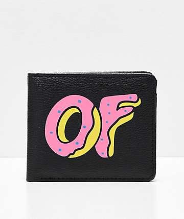 Odd Future Logo cartera plegable en negro