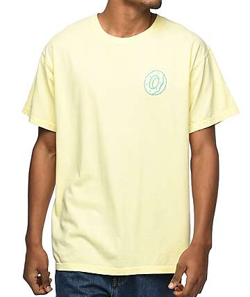 Odd Future Lone Donut Embroidered Yellow T-Shirt