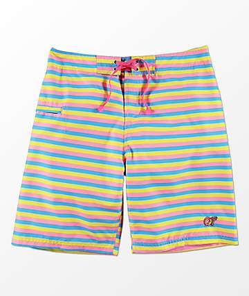 Odd Future Multi Stripe Board Shorts