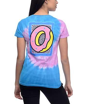 Odd Future Neon Razz Wave Pink & Blue Tie Dye T-Shirt