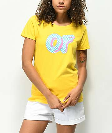 Odd Future OF Checkered Donut Yellow T-Shirt