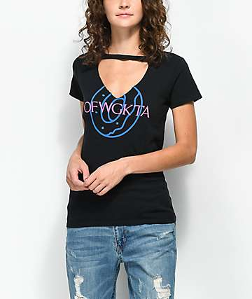 Odd Future OFWGKTA Cutout V-Neck Black T-Shirt