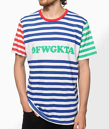 Odd Future OFWGKTA camiseta rayada