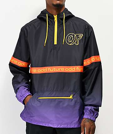 Odd Future Ombre Black & Purple Anorak Jacket