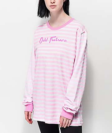 Odd Future Pink Stripe Long Sleeve T-Shirt