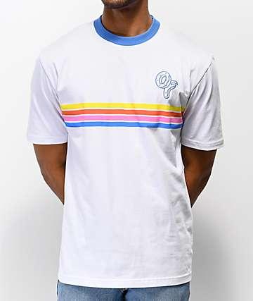9cf7c0d943d5 Odd Future Placed Stripe White Knit T-Shirt
