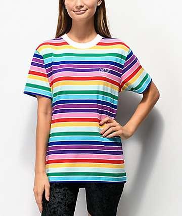 Odd Future Rainbow Stripe & White T-Shirt