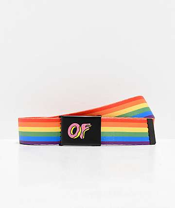 Odd Future Rainbow Web Belt