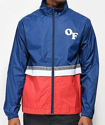 Odd Future Red, White & Blue Colorblock Windbreaker Jacket