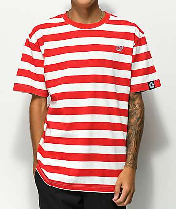 Odd Future Red & White Stripe Knit T-Shirt