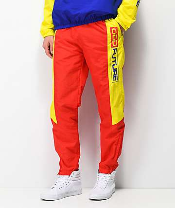 Odd Future Red & Yellow Windbreaker Pants