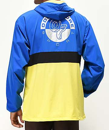 Odd Future Reflective Blue, Yellow & Black Colorblock Anorak Jacket