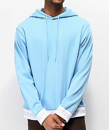 61f228f4d4bb26 Odd Future Ribbed Baby Blue Hoodie