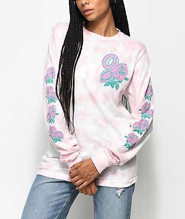 Odd Future Rose Light Pink Crystal Long Sleeve T-Shirt