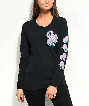 Odd Future Roses Black Long Sleeve T-Shirt