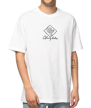 Odd Future Script Embroidery camiseta blanca