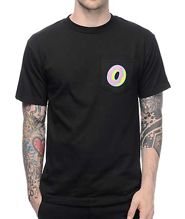 22ccdae1d807 Odd Future Single Donut Black Pocket T-Shirt