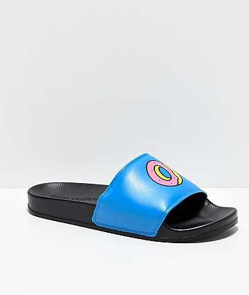 Odd Future Sliders Black & Blue Slide Sandals