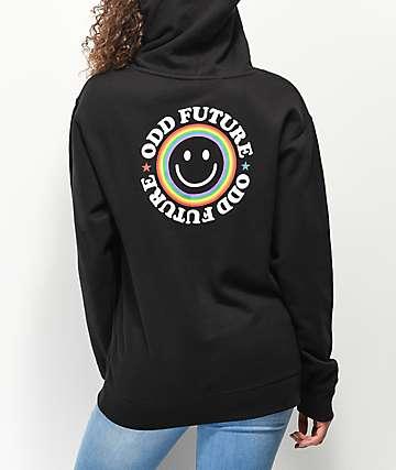 Odd Future Smile Face sudadera con capucha negra