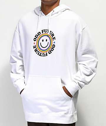 Odd Future Smile Logo sudadera con capucha blanca