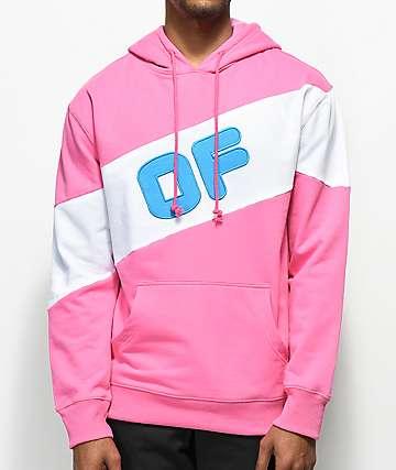 Odd Future Sport Pink & White Colorblock Hoodie