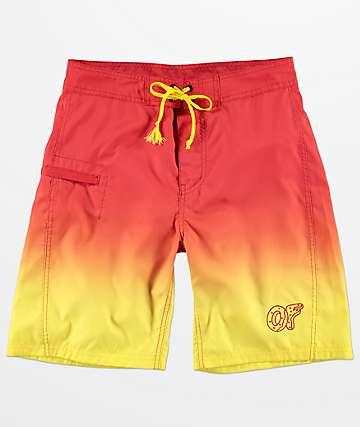 Odd Future Sunset shorts de baño con efecto teñido
