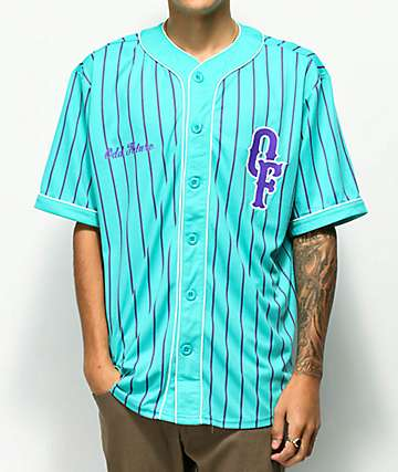 Odd Future Teal & Purple Baseball Jersey