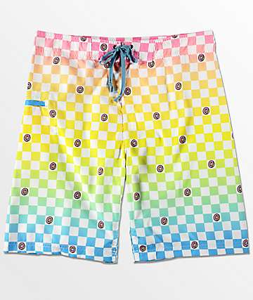 Odd Future Technicolor Checkered Board Shorts