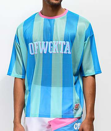 380e4948131 Odd Future Vertical Stripe Teal Soccer Jersey