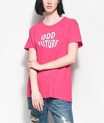 Odd Future Wavy Logo Hot Pink T-Shirt